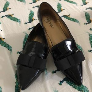 Nine West flat loafers with bows